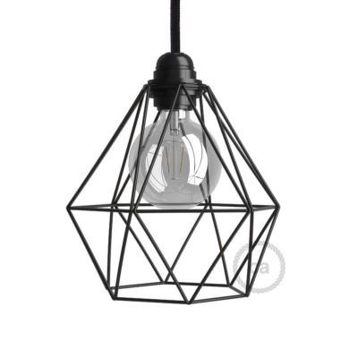 Sjenilo - goli metalni kavez Diamond s grlom navoja E27
