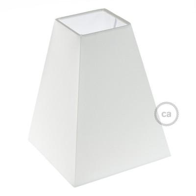 Sjenilo - kockasto Pyramid tekstilno s grlom navoja E27 , 16x16 cm h20 cm - 100% Made in Italy