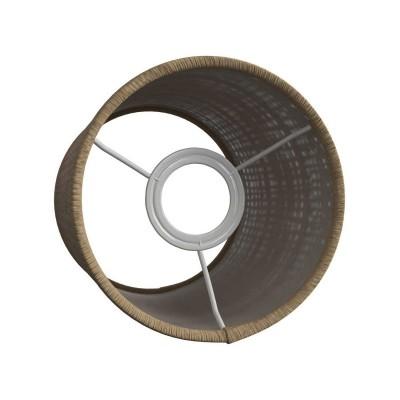 Sjenilo - Natural Raffia cilindrično od rafije s grlom navoja E27, promjera 15cm h18cm - 100% Made in Italy