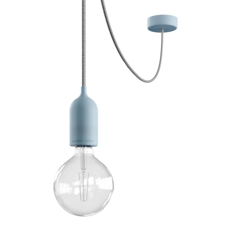 EIVA PASTEL visilica s tekstilnim kabelom, silikonskom rozetom i grlom za žarulju, IP65 vodootporno, za vanjsku upotrebu