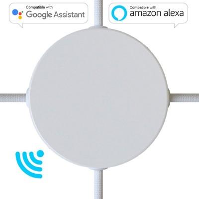 SMART cilindrična metalna rozeta s 4 bočne rupe i pribiliom - kompatibilna Google Home i Amazon Alexa
