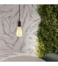Visilica s tekstilnim pletenim kabelom i aluminijskim grlom za žarulje - Proizvedeno u Italiji