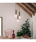 Viseća lampa s mornarskim užem XL kabelom i velikim grlom od grane s korom - Proizvedeno u Italiji