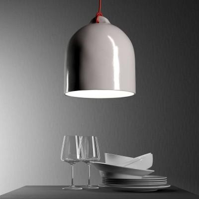 Visilica s tekstilnim kabelom i sjenilom Bell M keramičko zvono - Proizvedeno u Italiji