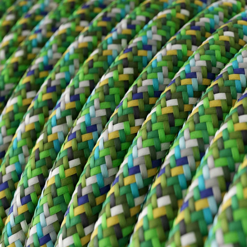 Visilica s tekstilnim kabelom, Bottle keramičkim sjenilom i metalnim detaljima - Proizvedeno u Italiji
