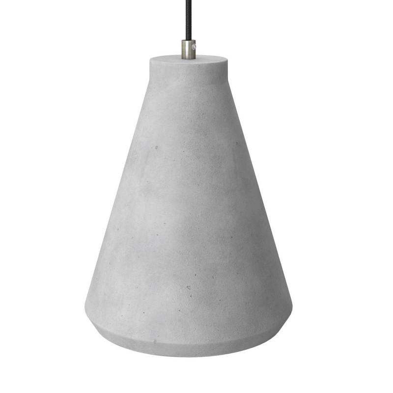 Visilica s tekstilnim kabelom, Funnel cement sjenilom i metalnim detaljima - Proizvedeno u Italiji