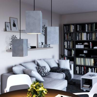 Visilica s tekstilnim kabelom, Cube cement sjenilom i metalnim dijelovima - Proizvedeno u Italiji