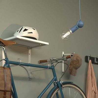 Magnetico®- viseća lampa s tekstilnim kabelom i prilagodljivim magnetnim grlom - Proizvedeno u Italiji