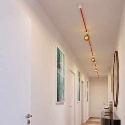 Filé System Symmetric Kit - s 5m plosnatog (String Light) kabela i 9 unutarnjih bijelo obojanih drvenih komponenata
