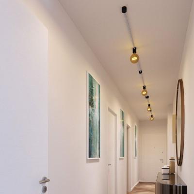 Filé System Symmetric Kit - s 5m plosnatog (String Light) kabela i 9 unutarnjih crno obojanih drvenih komponenata