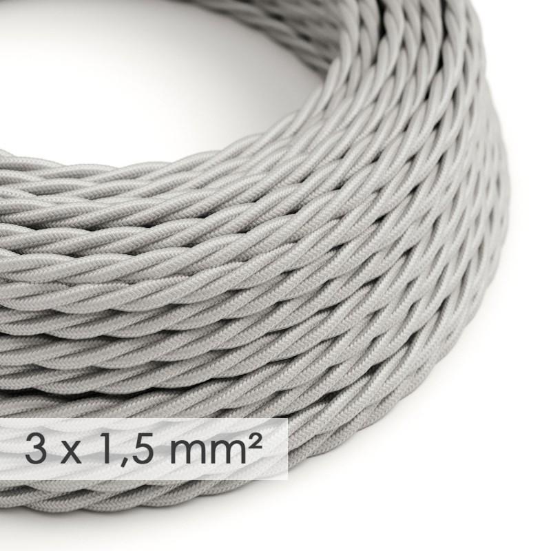 Zamotan kabel većeg presjeka (3x1,50) - srebrni TM02