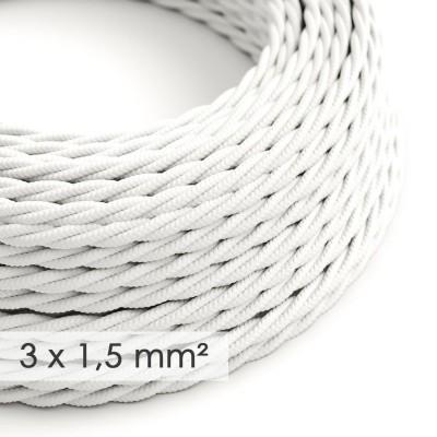 Zamotan kabel većeg presjeka (3x1,50) - bijeli TM01