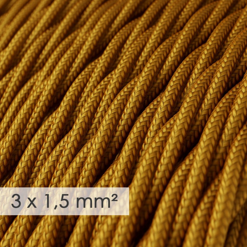 Zamotan kabel većeg presjeka (3x1,50) - zlatni TM05