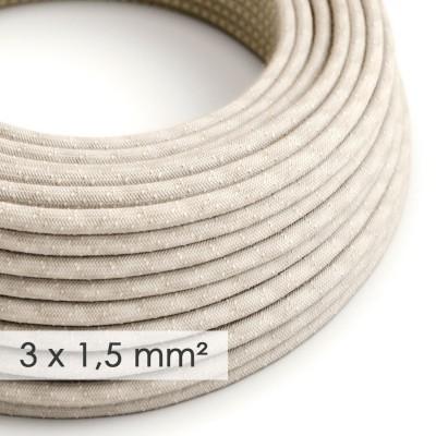 Okrugao kabel većeg presjeka (3x1,50) - prirodni lan RN01