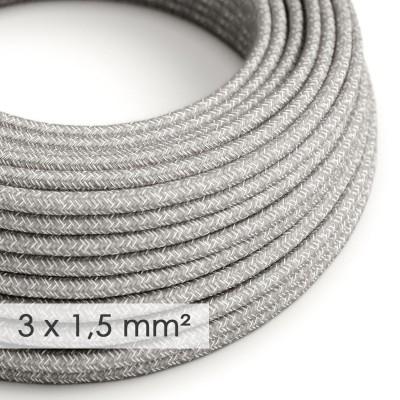 Okrugao kabel većeg presjeka (3x1,50) - sivi prirodni lan RN02