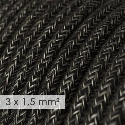 Okrugao kabel većeg presjeka (3x1,50) - antracit prirodni lan RN03