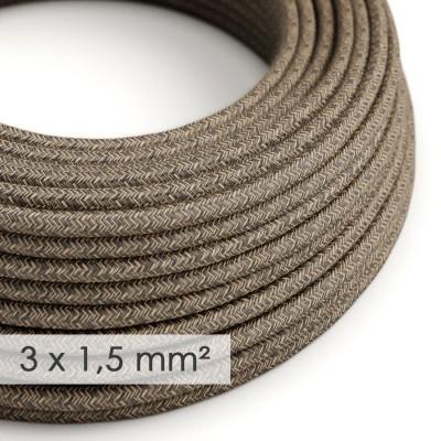 Okrugao kabel većeg presjeka (3x1,50) - braon prirodni lan RN04