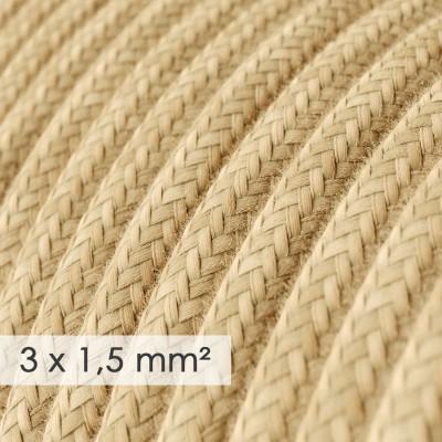 Okrugao kabel većeg presjeka (3x1,50) - prirodna juta RN06