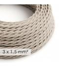 Zamotan kabel većeg presjeka (3x1,50) - prirodni lan TN01