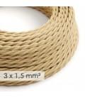 Zamotan kabel većeg presjeka (3x1,50) - prirodna juta TN06