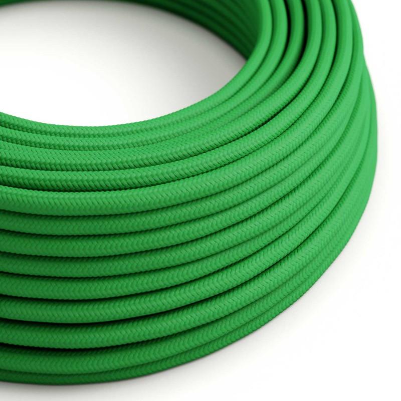 Okrugli tekstilni električni kabel RM06 - zelena