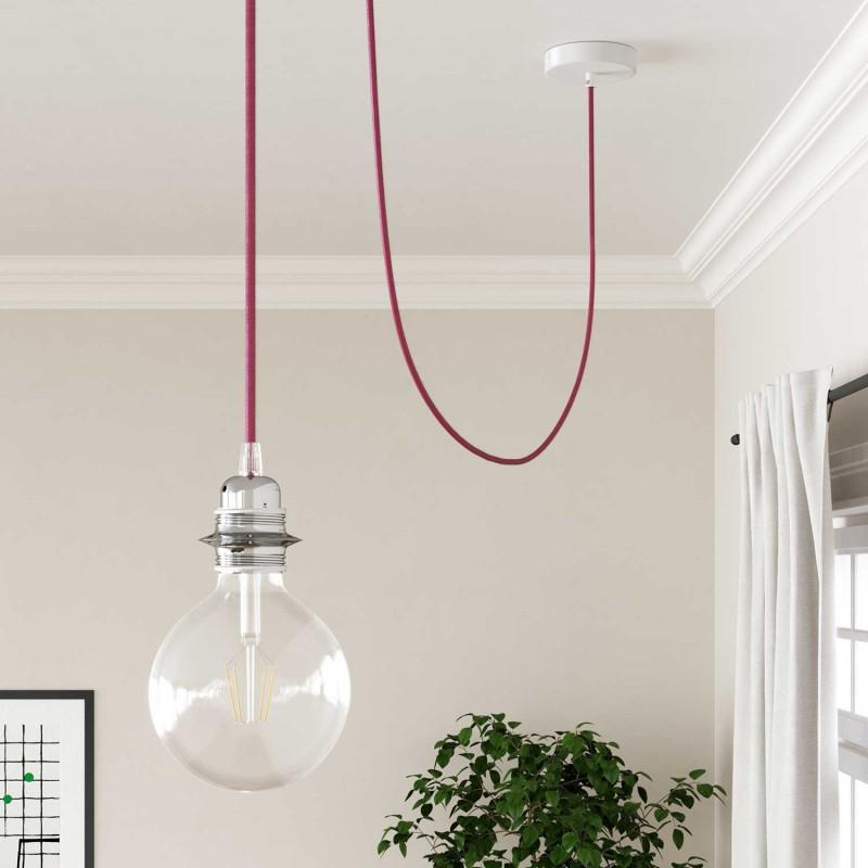 Okrugli tekstilni električni kabel RM08 - fuksija