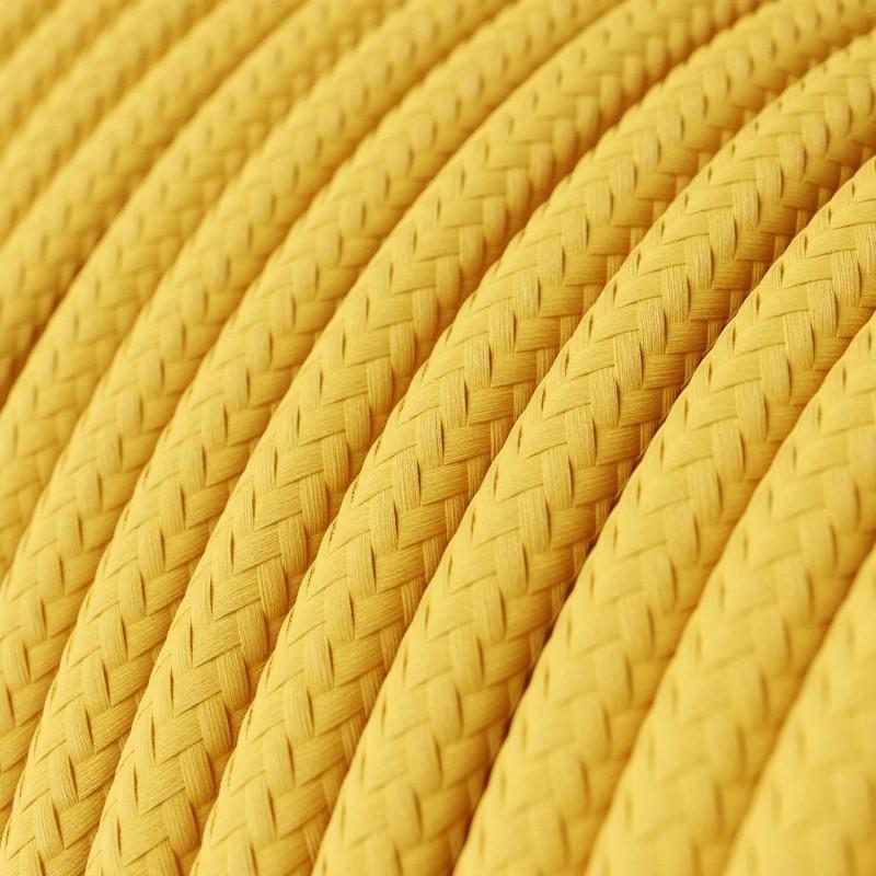 Okrugli tekstilni električni kabel RM10 - žuta