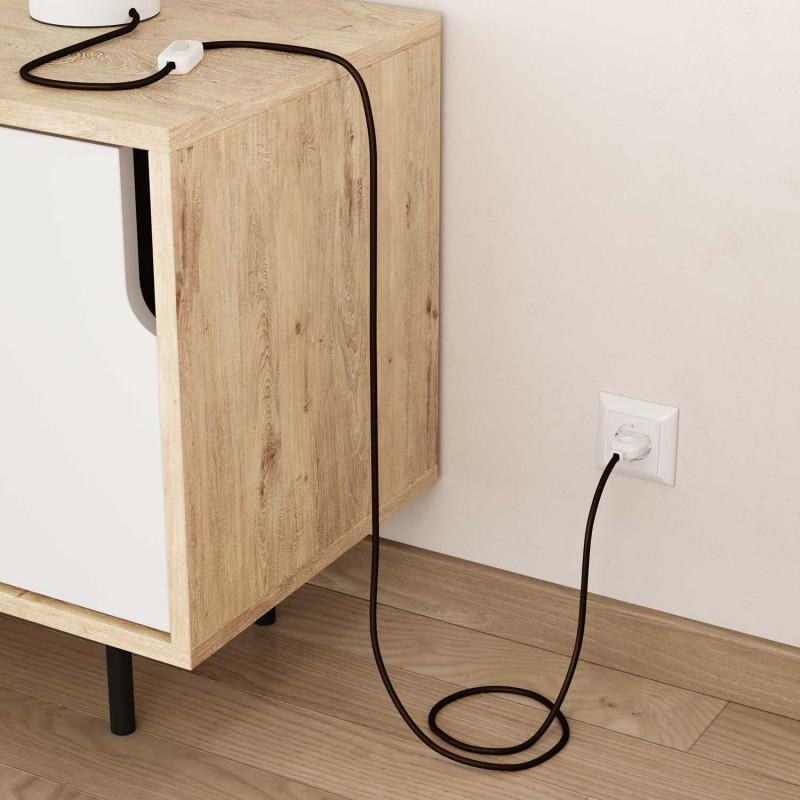 Okrugli tekstilni električni kabel RM13 - braon