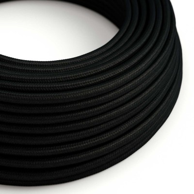 Okrugli tekstilni električni kabel RM04 - crna