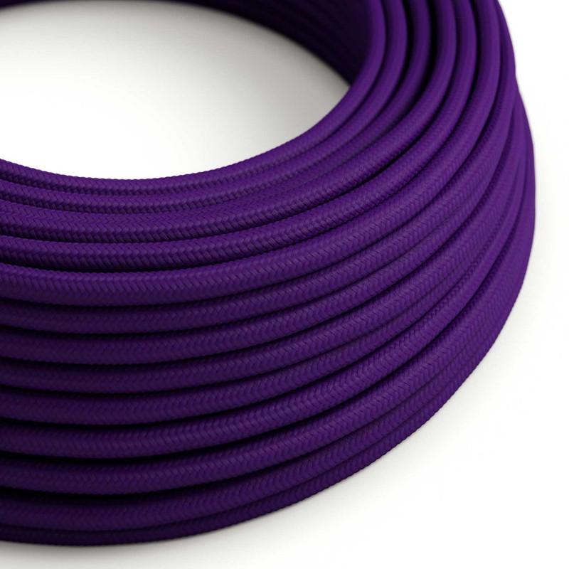 Okrugli tekstilni električni kabel RM14 - purpurna