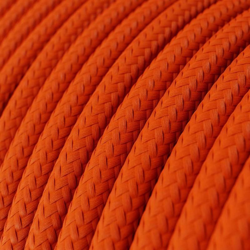 Okrugli tekstilni električni kabel RM15 - narančasta