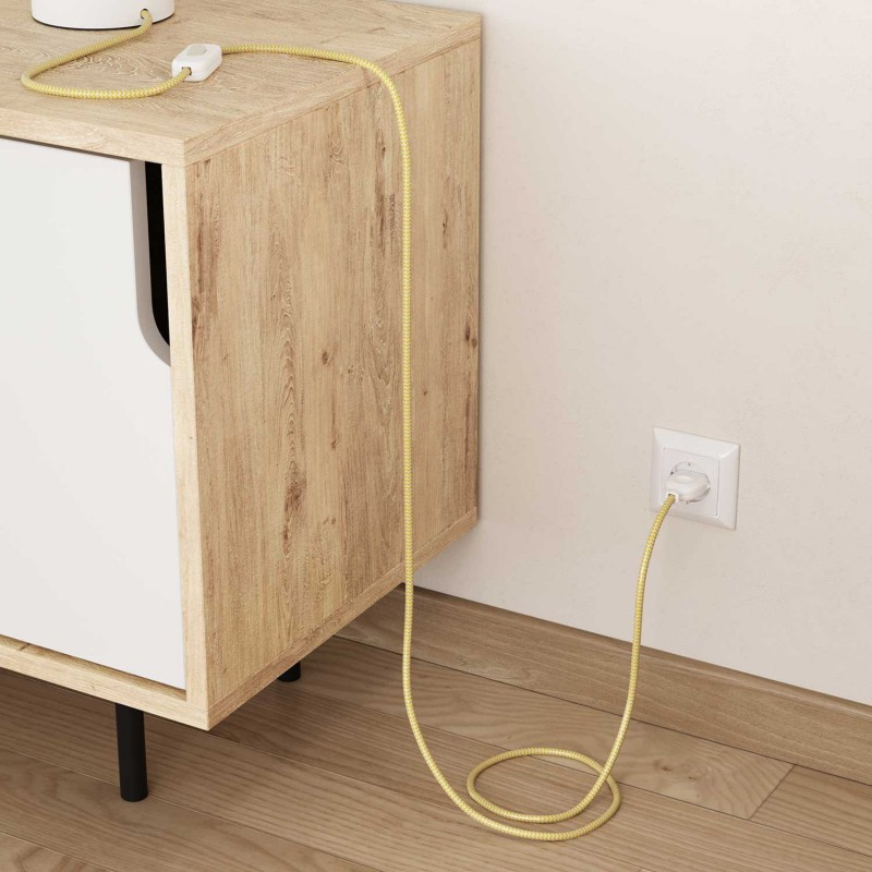 Okrugli tekstilni električni kabel RZ10 - žuta