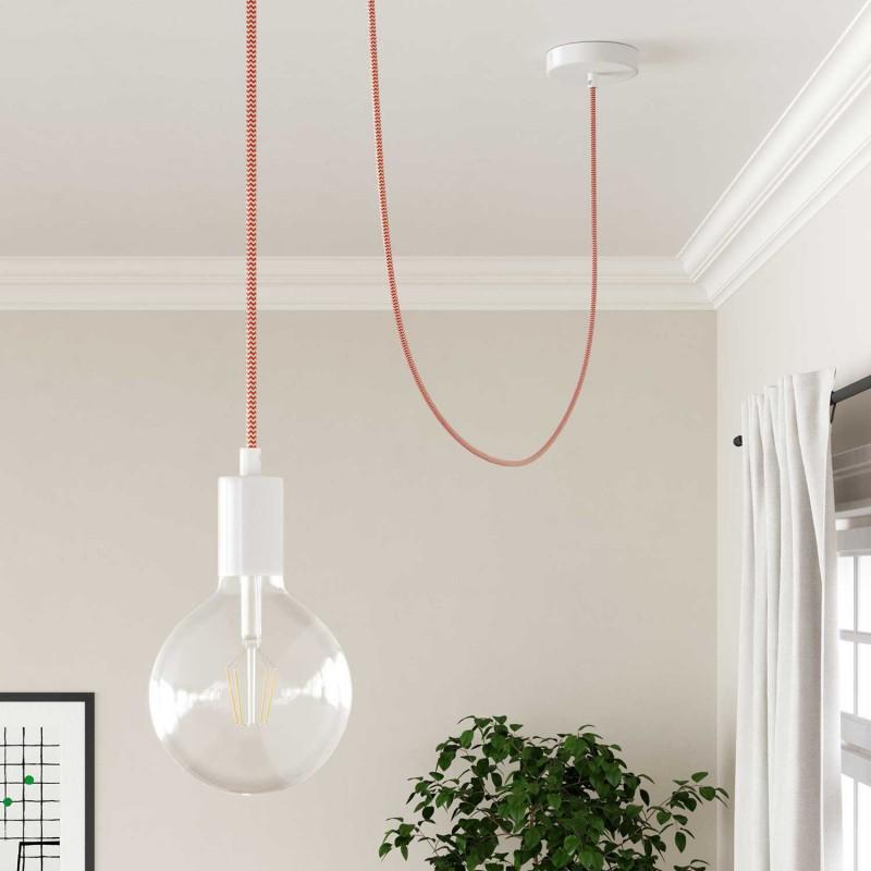Okrugli tekstilni električni kabel RZ15 - narančasta