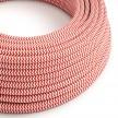 Okrugli tekstilni električni kabel RZ09 - crvena