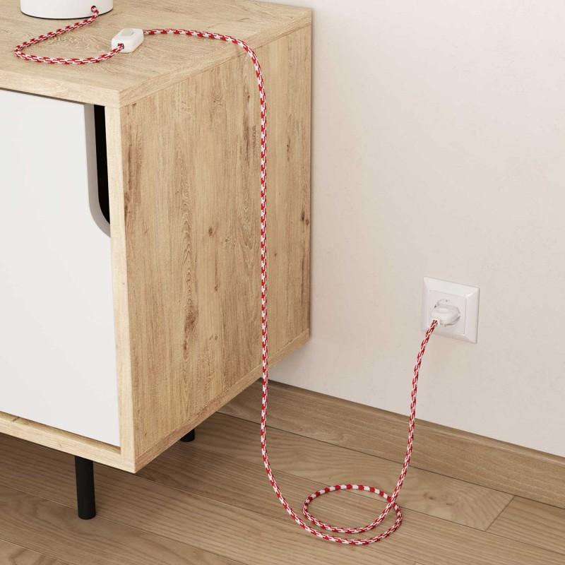 Okrugli tekstilni električni kabel RP09 - crvena