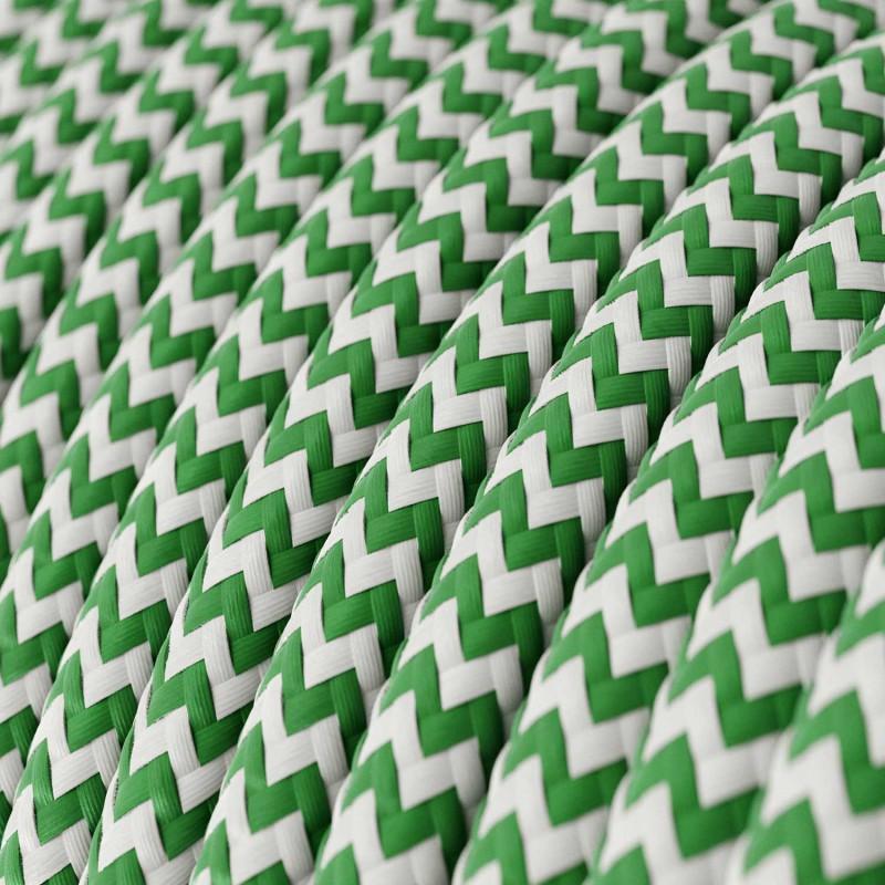 Okrugli tekstilni električni kabel RZ06 - zelena