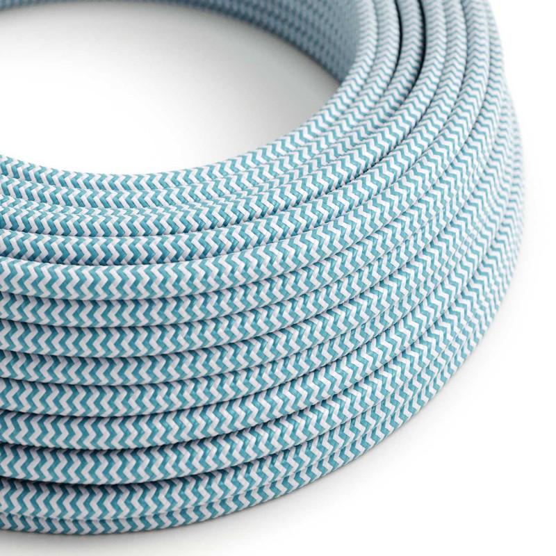 Okrugli tekstilni električni kabel RZ11 - azur