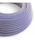 Okrugli tekstilni električni kabel RZ12 - plava