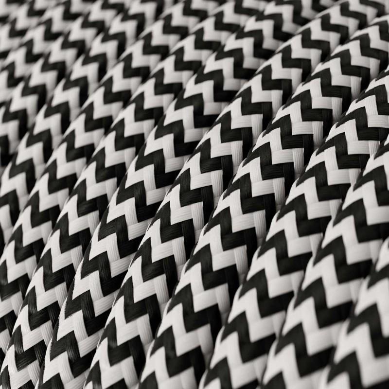 Okrugli tekstilni električni kabel RZ04 - crna