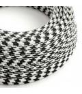 Okrugli tekstilni električni kabel RP04 - crna