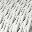 Zamotan tekstilni električni kabel TM01 - bijela