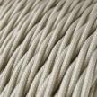 Zamotan tekstilni električni kabel TM00 - slonovača