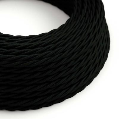 Zamotan tekstilni električni kabel TM04 - crna