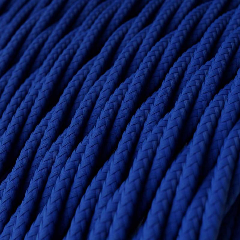 Zamotan tekstilni električni kabel TM12 - plava