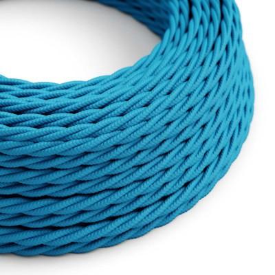 Zamotan tekstilni električni kabel TM11 - azur