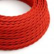 Zamotan tekstilni električni kabel TM09 - crvena