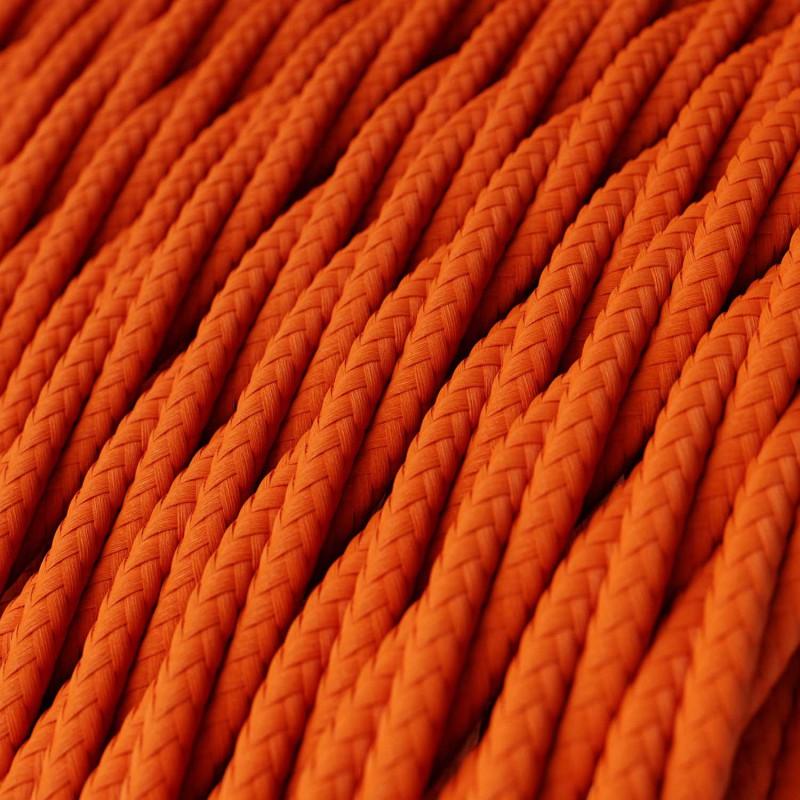 Zamotan tekstilni električni kabel TM15 - narančasta