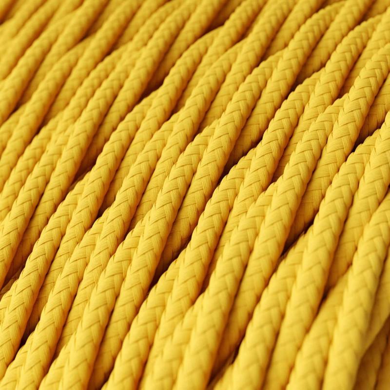 Zamotan tekstilni električni kabel TM10 - žuta
