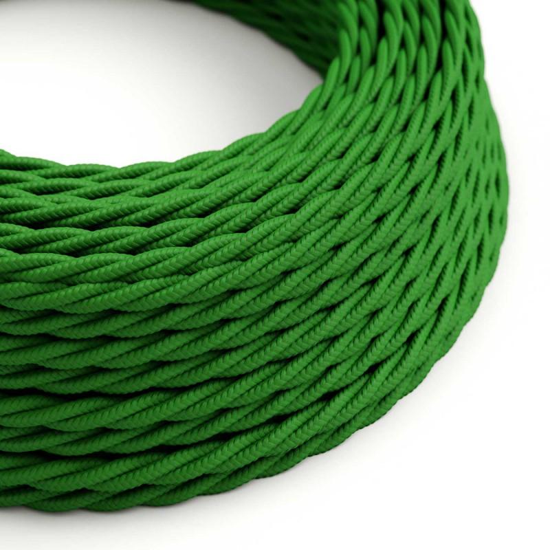 Zamotan tekstilni električni kabel TM06 - zelena