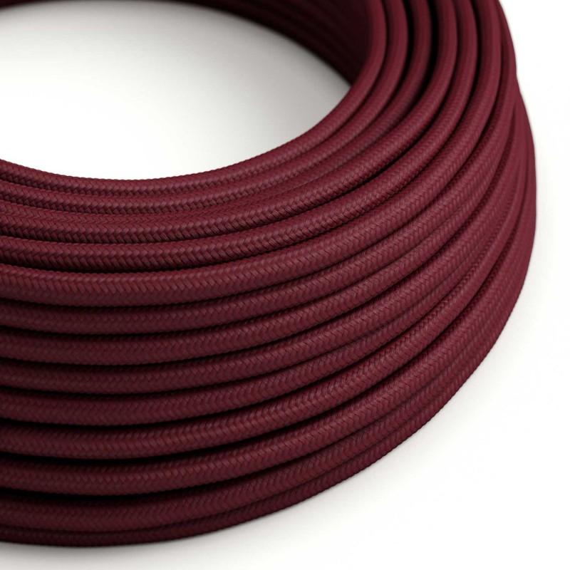 Okrugli tekstilni električni kabel RM19 - bordo